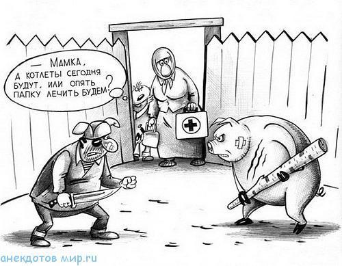 смешной до слез анекдот про свинью