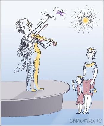 Смешные анекдоты про скрипку