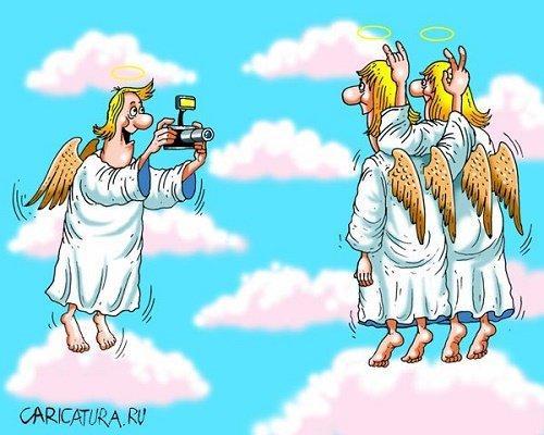 Свежие анекдоты про ангелов