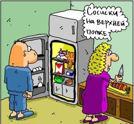 Короткие анекдоты про холодильник