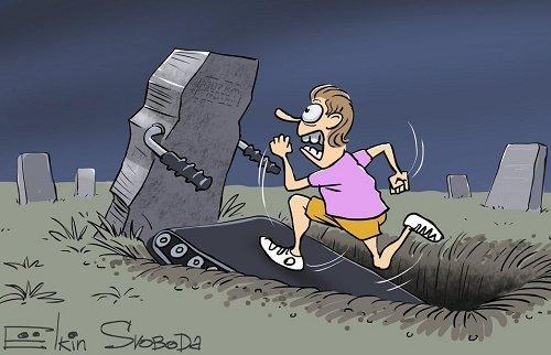 Смешные анекдоты про кладбище