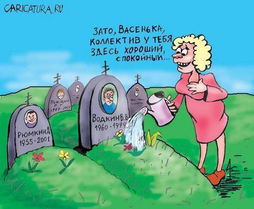 Анекдоты про кладбище