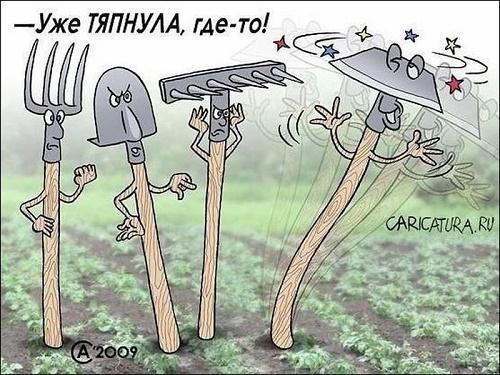 Анекдоты про лопату