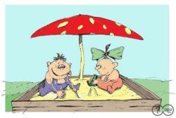 Анекдоты про песочницу