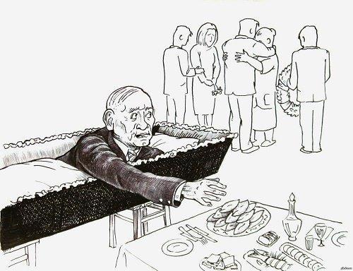 Свежие анекдоты про похороны