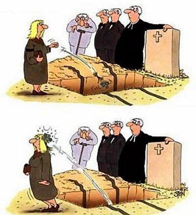 анекдот про похороны