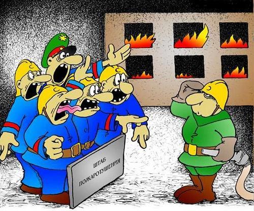 Свежие анекдоты про пожарных