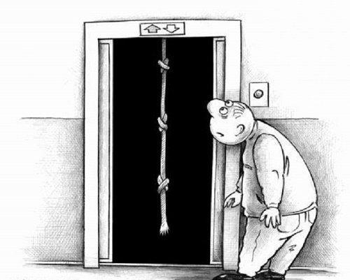 смешной анекдот про лифт
