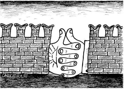смешной анекдот про стену
