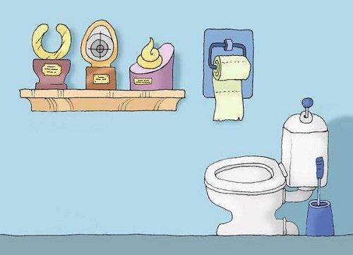 новый анекдот про туалет