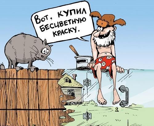 Свежие анекдоты про забор