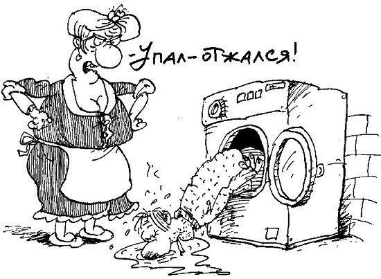 Шутки и анекдоты о рекламе средств стирки и мытья