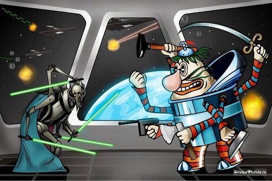 анекдоты про звездные войны