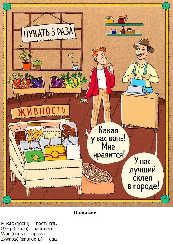 знакомые слова в иностранных языках
