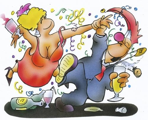 Карикатуры про вечеринку