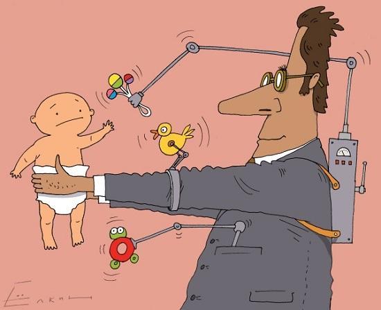 карикатура про отцов и детей