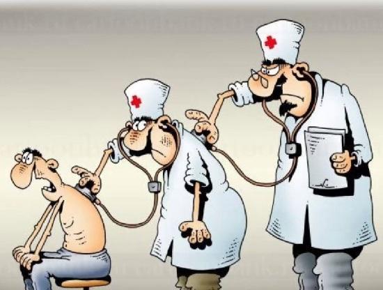 Карикатуры про врачей и больных
