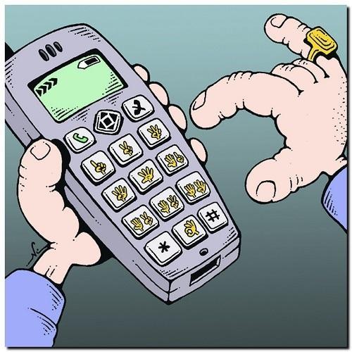 анекдот в картинке про телефон
