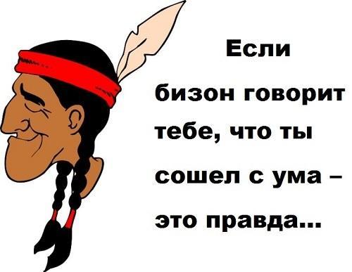 Веселые индейские поговорки и пословицы