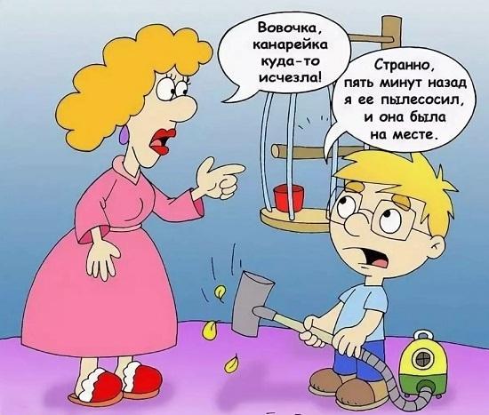 Анекдоты про Вовочку и маму