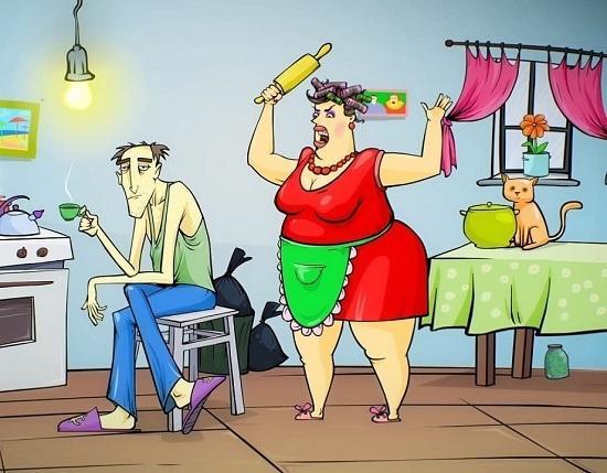 Анекдоты про жену и дело