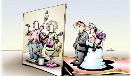 анекдоты про жену и года