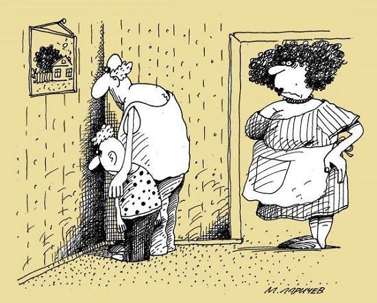 анекдоты про мужа и день