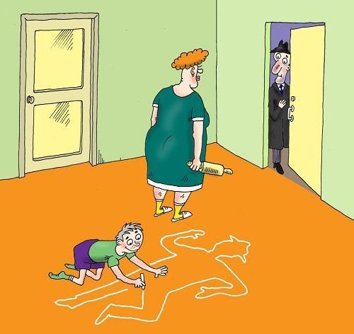 Анекдоты про жену и неделю