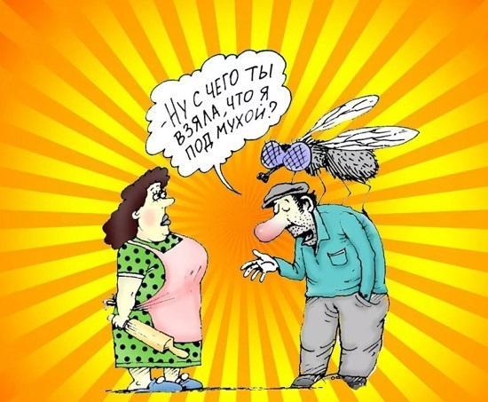 анекдоты про жену и вопрос