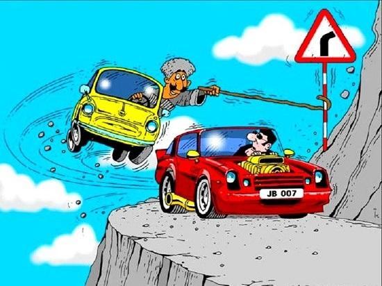 Анекдоты про машины и дороги