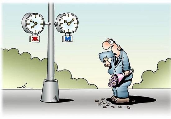 анекдоты про мужчин и время