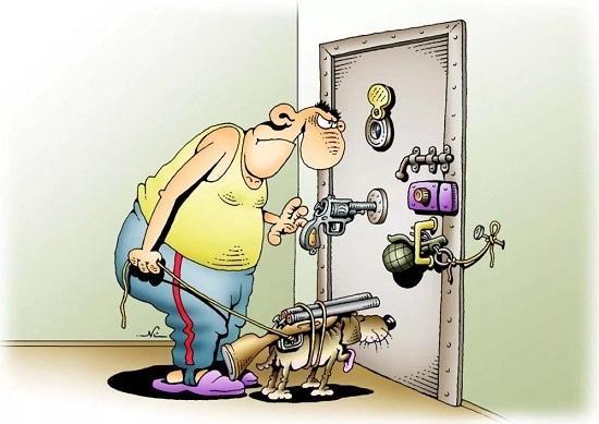 анекдоты про мужика и двери