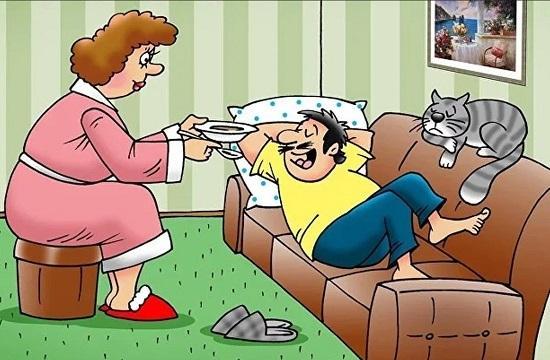 анекдоты про жену и человека