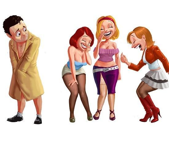 анекдоты про девушек и подруг