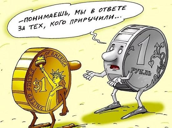 анекдоты про доллар и рубль