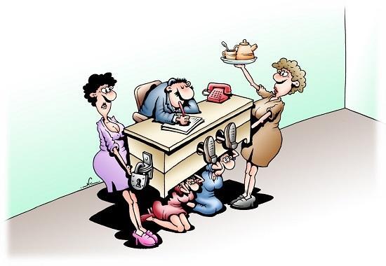 анекдоты про работу и женщин