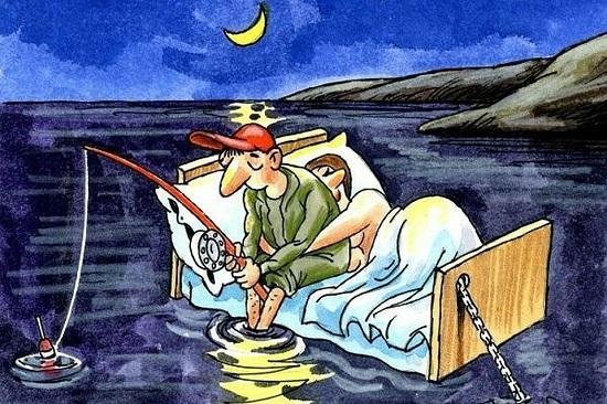 анекдоты про жену и рыбалку