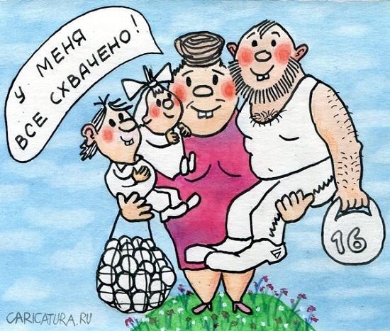 анекдоты про маму и семью