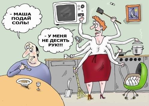 анекдоты про женщин и дело