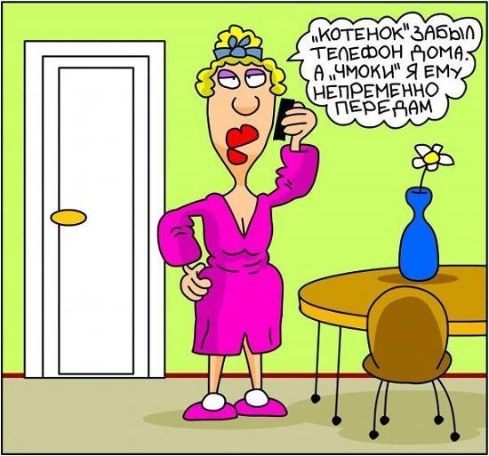 анекдоты про жену и телефон