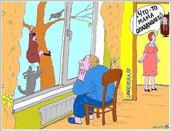 анекдоты про маму и зятя