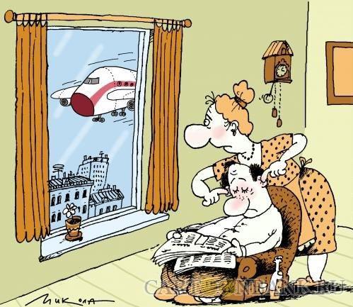 анекдоты про жену и окно