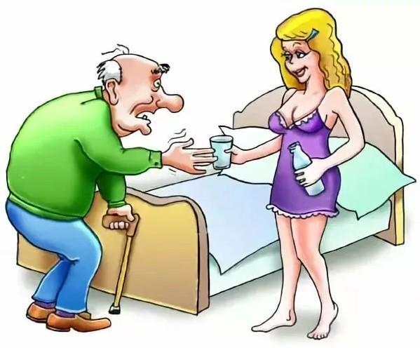 анекдоты про молодую жену и мужа