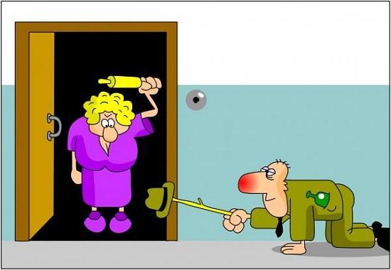 анекдоты про женщин и двери