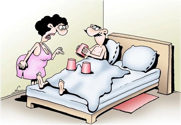 анекдоты про женщину и постель