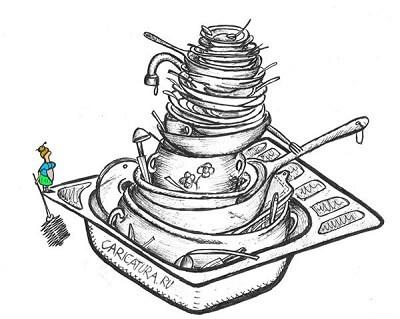 Анекдоты – картинки про посуду