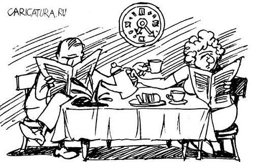 анекдот картинка про завтрак обед ужин