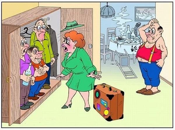 анекдоты про дом и друзей