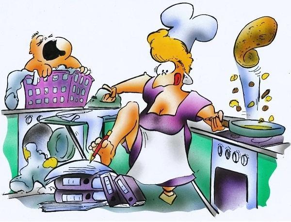Анекдоты про маму и кухню