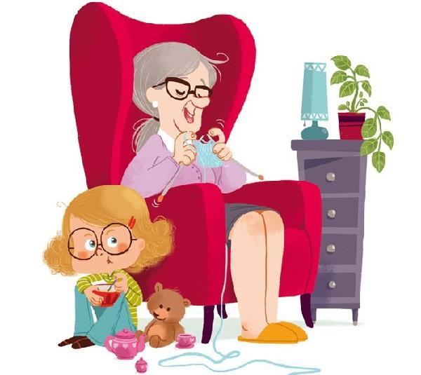 Анекдоты про внучку и бабушку